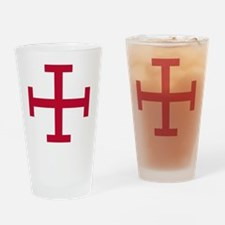 2-Cross Potent - Red Drinking Glass