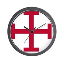 2-Cross Potent - Red Wall Clock