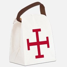 2-Cross Potent - Red Canvas Lunch Bag
