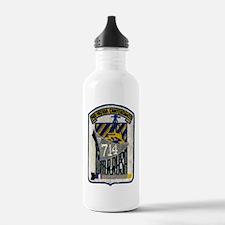 wrrush dd patch transp Water Bottle