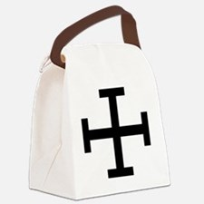 Cross Potent - Black Canvas Lunch Bag