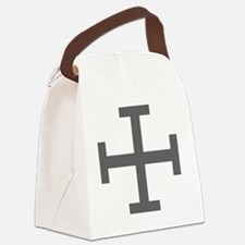 Cross Potent - Grey Canvas Lunch Bag
