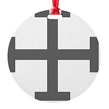 Cross Potent - Grey Ornament