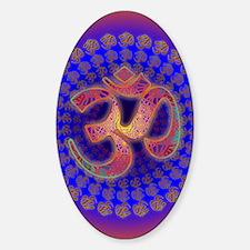 Aum-Metatron-Om-Symbol-Colorfield-P Sticker (Oval)