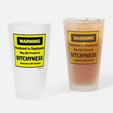 3-approach with caution Drinking Glass