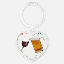 Italian and Irish Heart Keychain