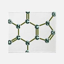 Caffeine Molecule Dark Throw Blanket