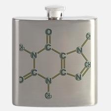 Caffeine Molecule Dark Flask