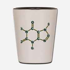 Caffeine Molecule Dark Shot Glass