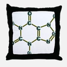 Caffeine Molecule Dark Throw Pillow