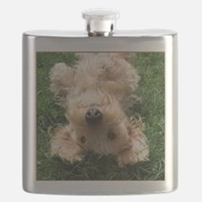 wire hair blond16x16 Flask