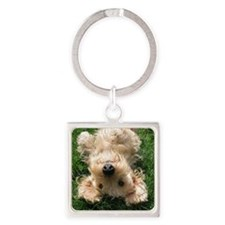 wire hair blond16x16 Square Keychain