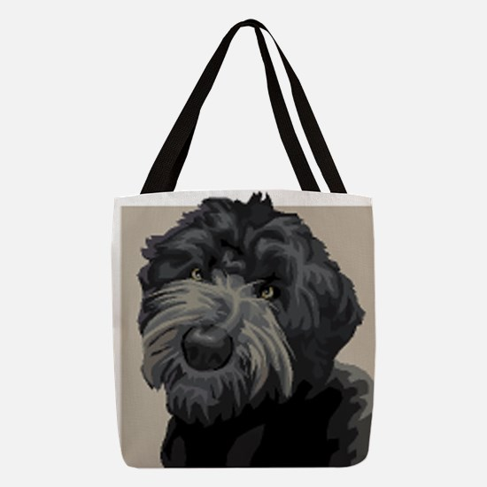 Black Russian Terrier Polyester Tote Bag