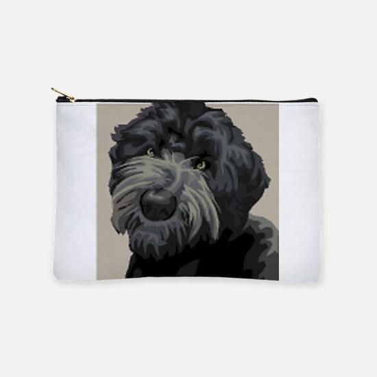 Black Russian Terrier Makeup Pouch
