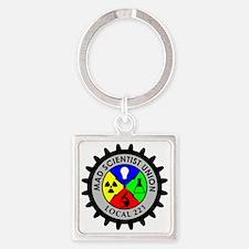 mad_scientist_union_logo Square Keychain