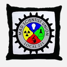 mad_scientist_union_logo Throw Pillow