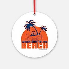 whichwaytothebeach Round Ornament