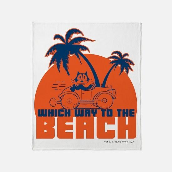 whichwaytothebeach Throw Blanket