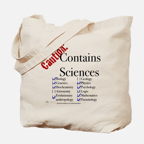 ContainsSciencesBlack Tote Bag