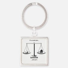Inside joke Square Keychain