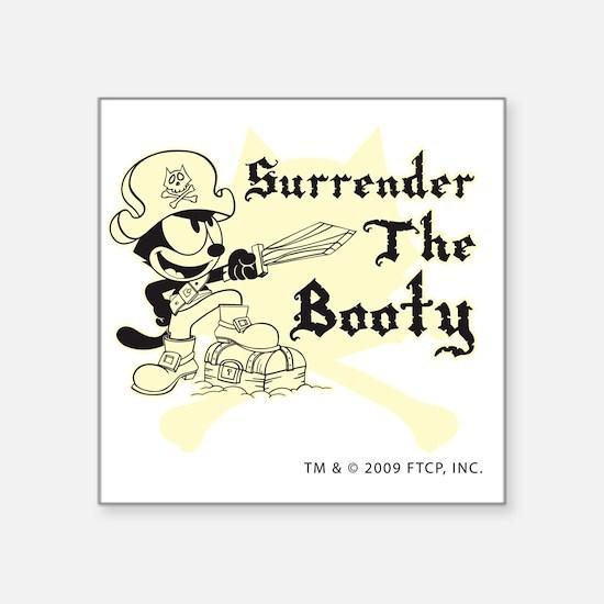 """surrenderthebooty Square Sticker 3"""" x 3"""""""