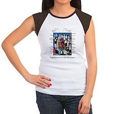 2-Lake Mich 4.5X5.75 Women's Cap Sleeve T-Shirt