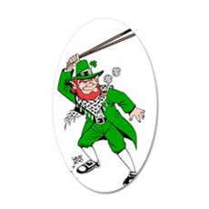leprechaun png 35x21 Oval Wall Decal