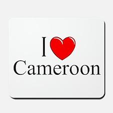 """""""I Love Cameroon"""" Mousepad"""