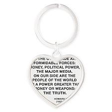 zinn Heart Keychain
