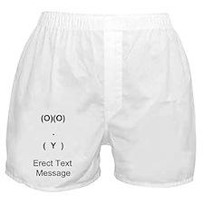 erect text.gif Boxer Shorts