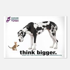 think bigger Large Postcards (Package of 8)