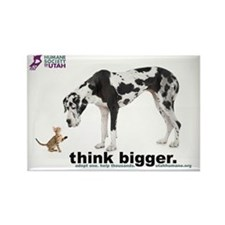 think bigger Large Rectangle Magnet