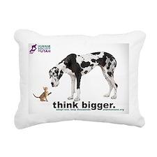 think bigger Large Rectangular Canvas Pillow