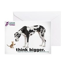 think bigger Large Greeting Card