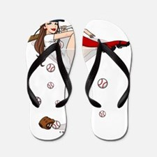 Baseball Boston Girl Flip Flops
