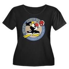 336thFS- Women's Plus Size Dark Scoop Neck T-Shirt