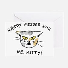 kitteez_mskitty_imageback_color Greeting Card