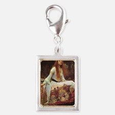 Lady of Shalott Journal Silver Portrait Charm