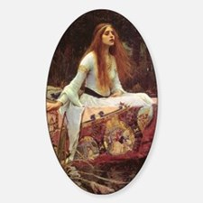 Lady of Shalott Journal Sticker (Oval)