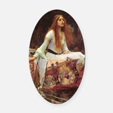 Lady of Shalott Journal Oval Car Magnet