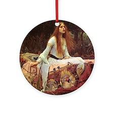 Lady of Shalott Keepsake Box Round Ornament