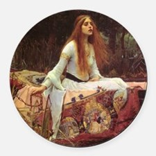 Lady of Shalott Keepsake Box Round Car Magnet