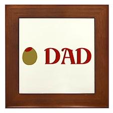 Olive Dad Framed Tile