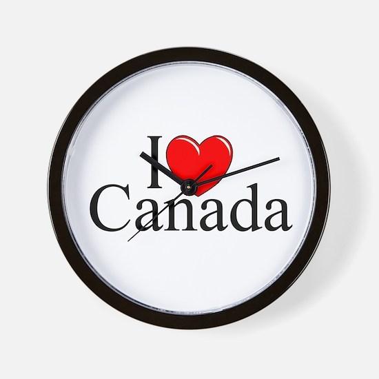 """""""I Love Canada"""" Wall Clock"""