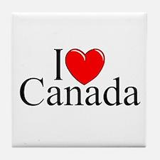"""""""I Love Canada"""" Tile Coaster"""
