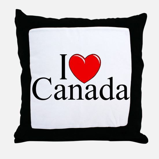 """I Love Canada"" Throw Pillow"