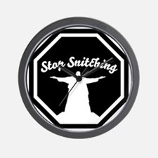 2-stop_snitching Wall Clock