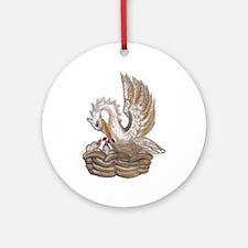 Arabellas Pelican Round Ornament
