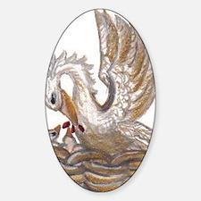 Arabellas Pelican Sticker (Oval)