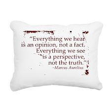 11x11 everything we hear Rectangular Canvas Pillow